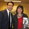 L'échevin M. Eric Jassin Ramdani et Mme Sandrine Mansour-Mérien