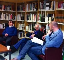 Le débat: Hubert Roland, Pierre Mertens et Laurent Moosen