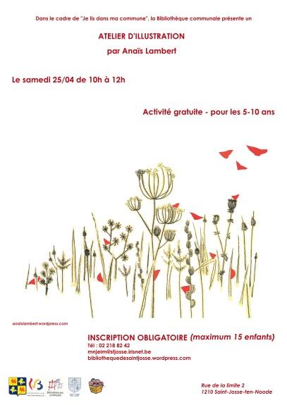 Affiche atelier illustration