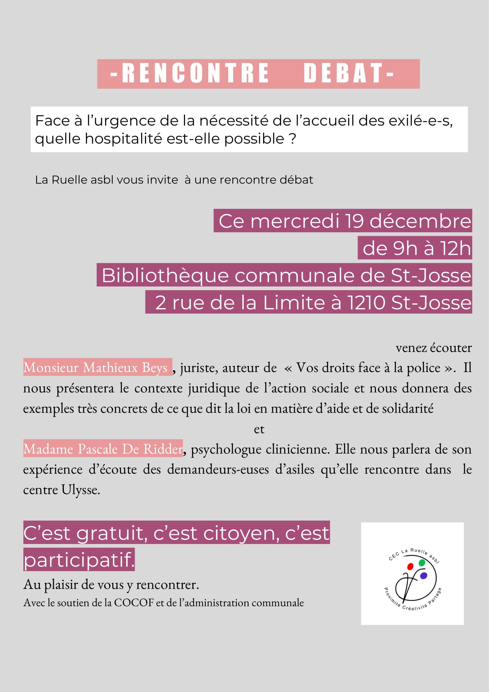 rencontre totalement gratuite belgique saint josse ten noode